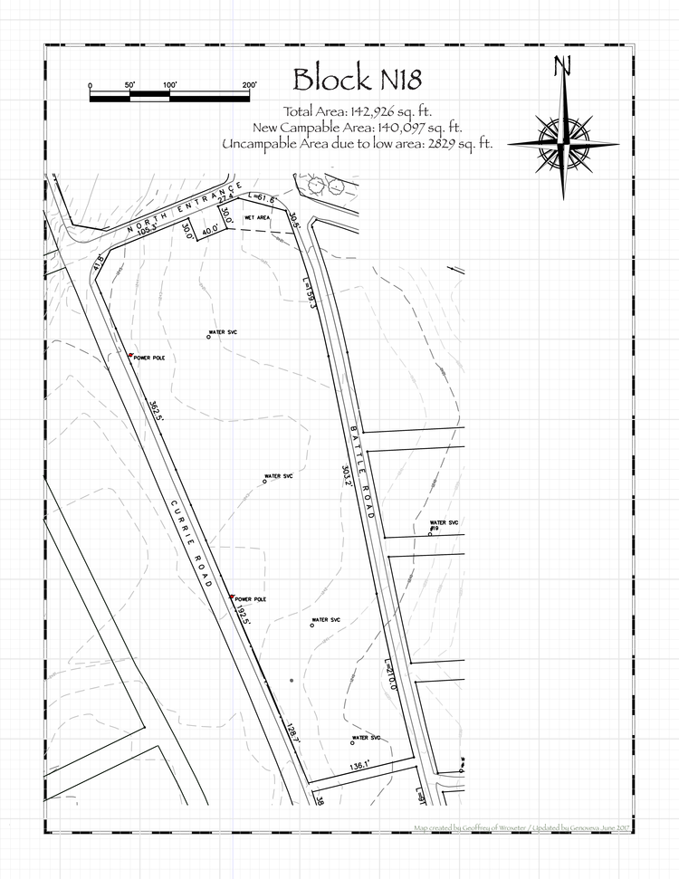 Pennsic 46 Block N18 Map