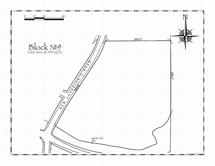 Pennsic 46 Block N19 Map