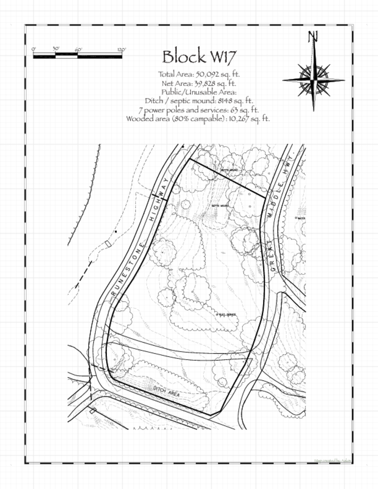Pennsic 46 Block W17 Map
