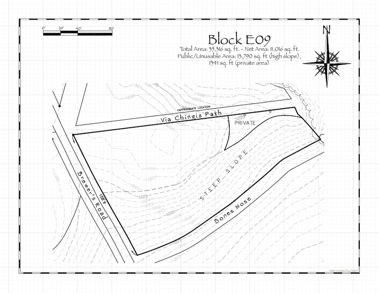 Pennsic 47 Block E09 Map
