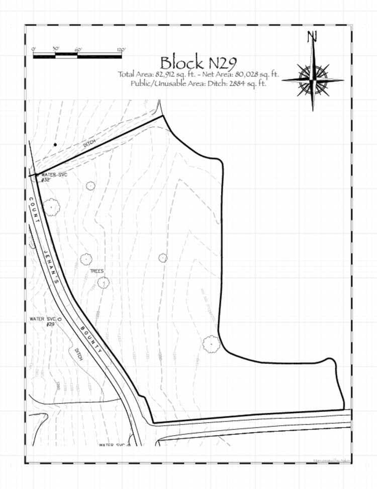 Pennsic 47 Block N29 Map