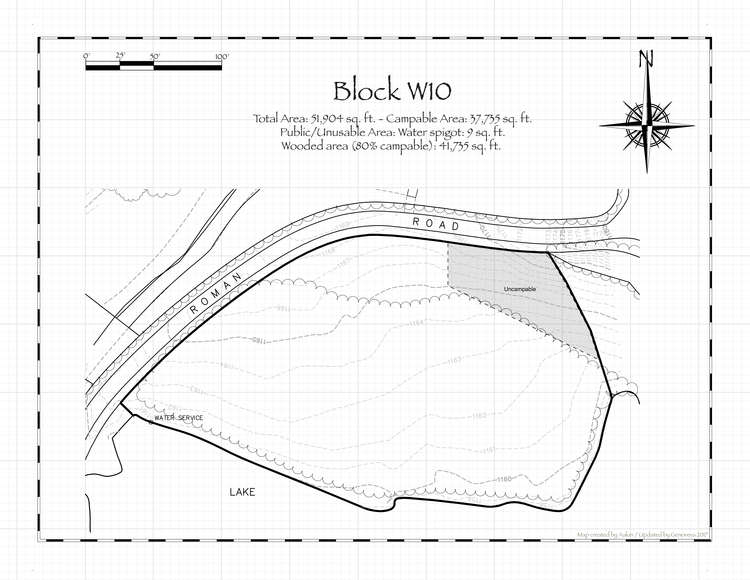 Pennsic 47 Block W10 Map