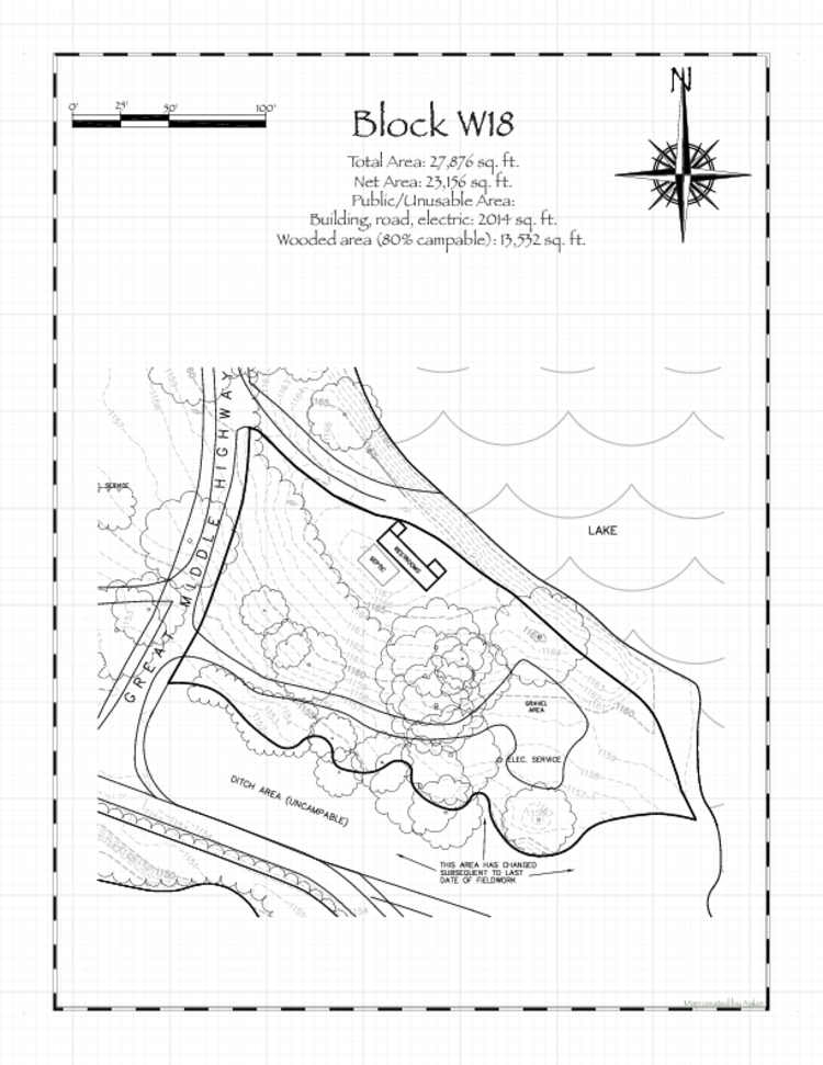 Pennsic 47 Block W18 Map