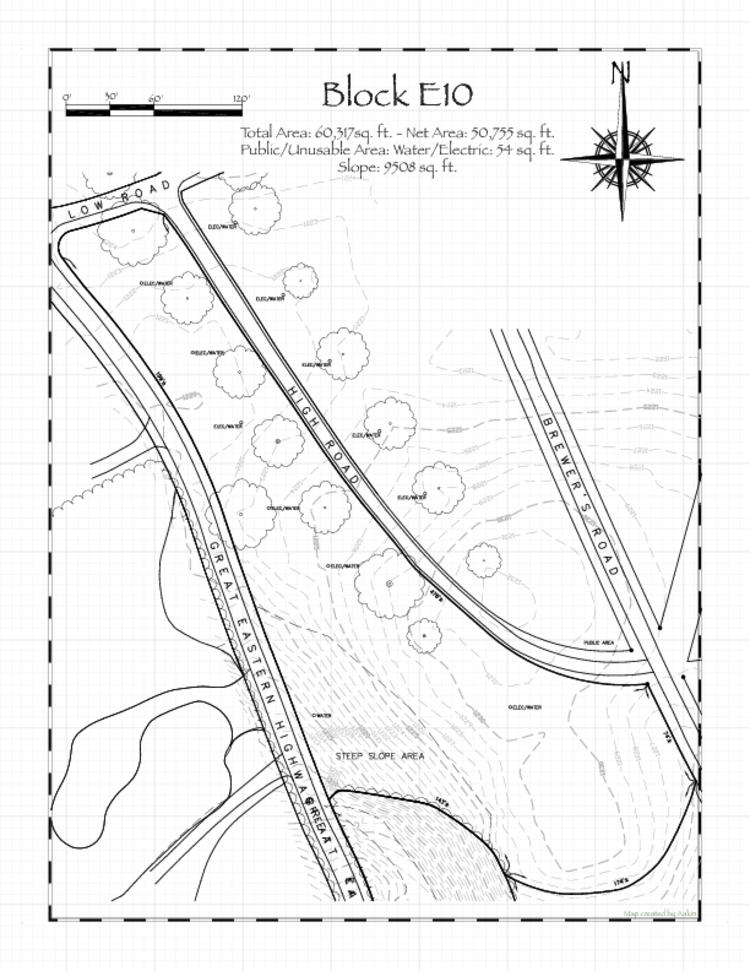 Pennsic 48 Block E10 Map