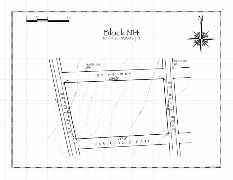 Pennsic 48 Block N14 Map