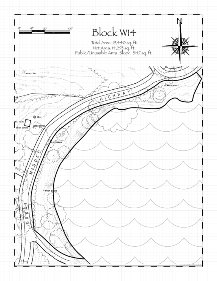 Pennsic 48 Block W14 Map